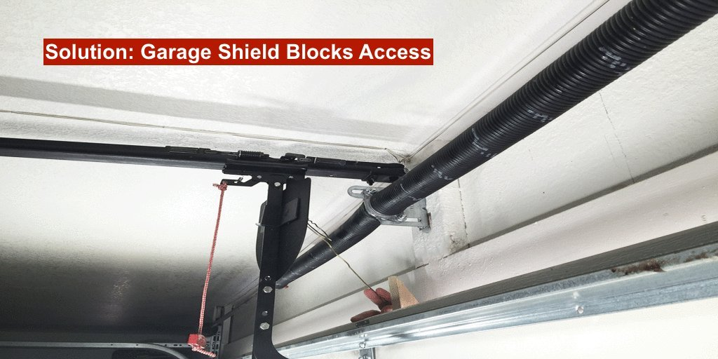 Garage Shield GS100 - Garage Guard for Garage Door Security - Protect Your Garage and Home from Burglars