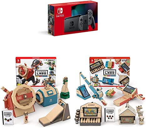 Nintendo Switch - Consola color Gris (Modelo 2019) + Labo: Toy-Con ...