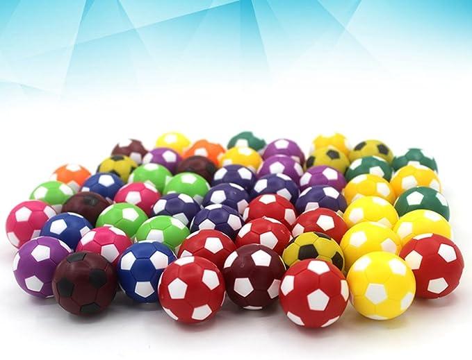 YeahiBaby Bolas de futbolín Mini 36mm/1.42 pulgadas Bolas de futbolín para niños - Reemplazos de pelotas de fútbol - Paquete de 10 (color surtido): Amazon.es: Juguetes y juegos