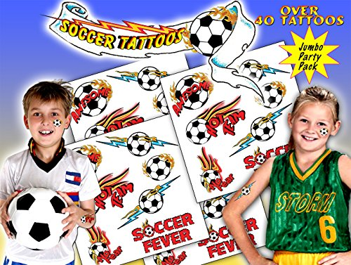 Soccer Tattoos (Football Temporary Tattoos)