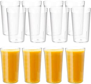 Lawei 12 Pack Plastic Drinking Glasses - 12 Oz Reusable Plastic Water Tumblers Unbreakable Beverage Cups for Home Kitchen Office (Clear)
