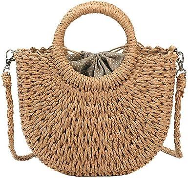 Straw Handbags For Women,Women Straw Handbags Beach Tote For Vacation Straw Bag Shoulder Handbag For Ladies
