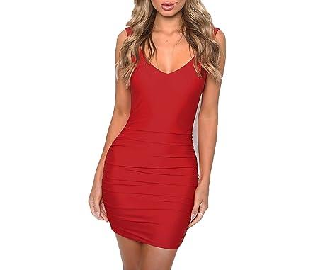 better-caress Bodycon V Neck Sleeveless Sheath Pencil Bandage Mini Dress Casual Dress Vestidos,