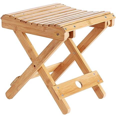 JIAHE115 Taburete Plegable Bambú Wood-HJCA820 Hogar Sala de ...