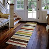 Aria Collection Lines of Color Multi Area Rug (2 3 x 8 )
