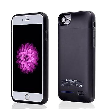 YiYunTE Funda Batería iPhone 6/6S/7 Case Carcasa Con Batería Cargador-Batería Externa Recargable 3000mAh Para iPhone 6/6S/7 (Negro)