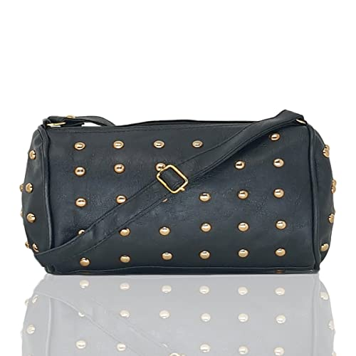 d2a050ff231c3 Typify Women s Leatherette PU Small Cross Body Studded Handbag(Black ...