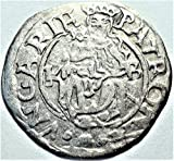 HU 1450-1620 Hungary Madonna with Child Antique Hungarian Silver Coin Denar Very Good