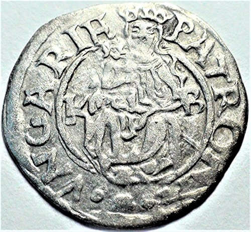 Antique Coin (HU 1450-1620 Hungary Madonna with Child Antique Hungarian Silver Coin Denar Very Good)