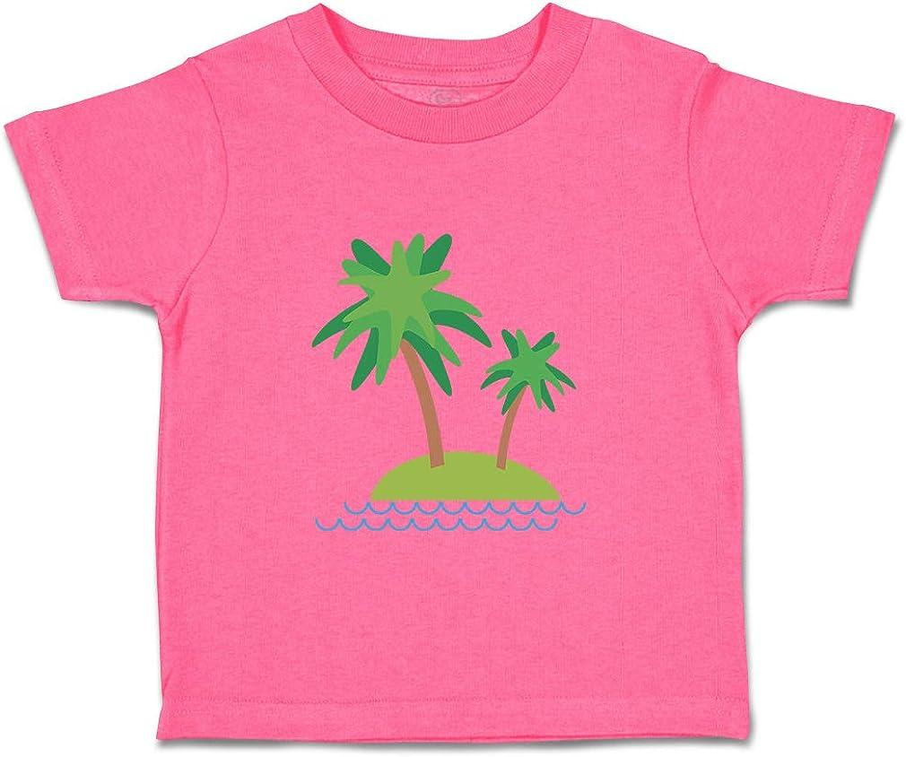 Custom Baby /& Toddler T-Shirt 2 Palm-Trees on Uninhabited Island Cotton