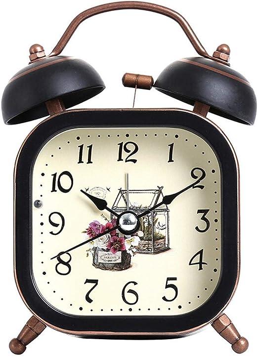 ZHAS Reloj Despertador Decoración casera Retro Vintage Twin ...