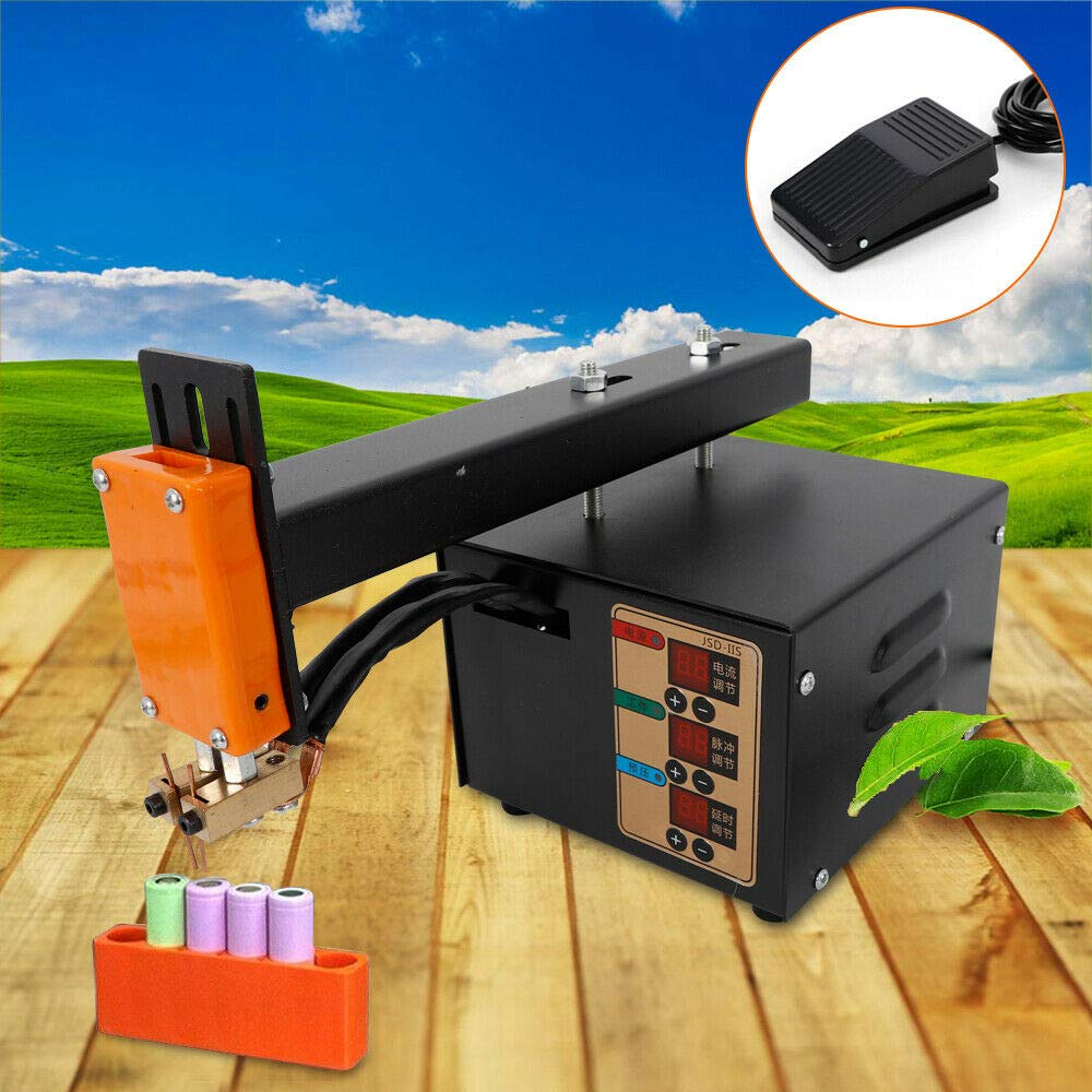 110V 3KW Hand Held Battery Pack Spot Welder Pulse And Current Display Welding Machine by KPfaster