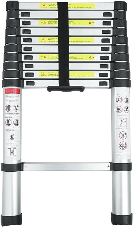 Wenhu Escalera Extensible Extensible telescópica retráctil de ...