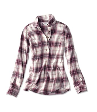 be848a89f5f Orvis Women s Misty Morning Flannel Popover at Amazon Women s Clothing  store