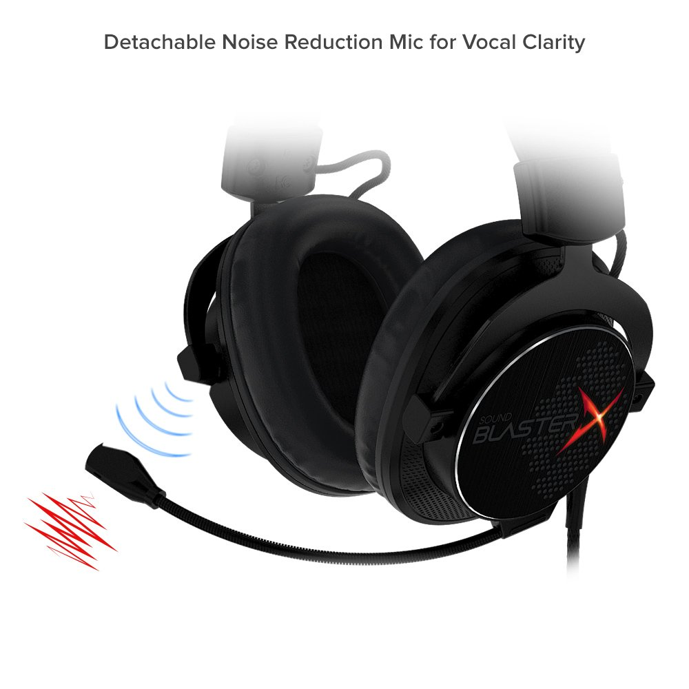 amazon com: creative sound blasterx h7 professional 7 1 hd usb gaming  headset: computers & accessories