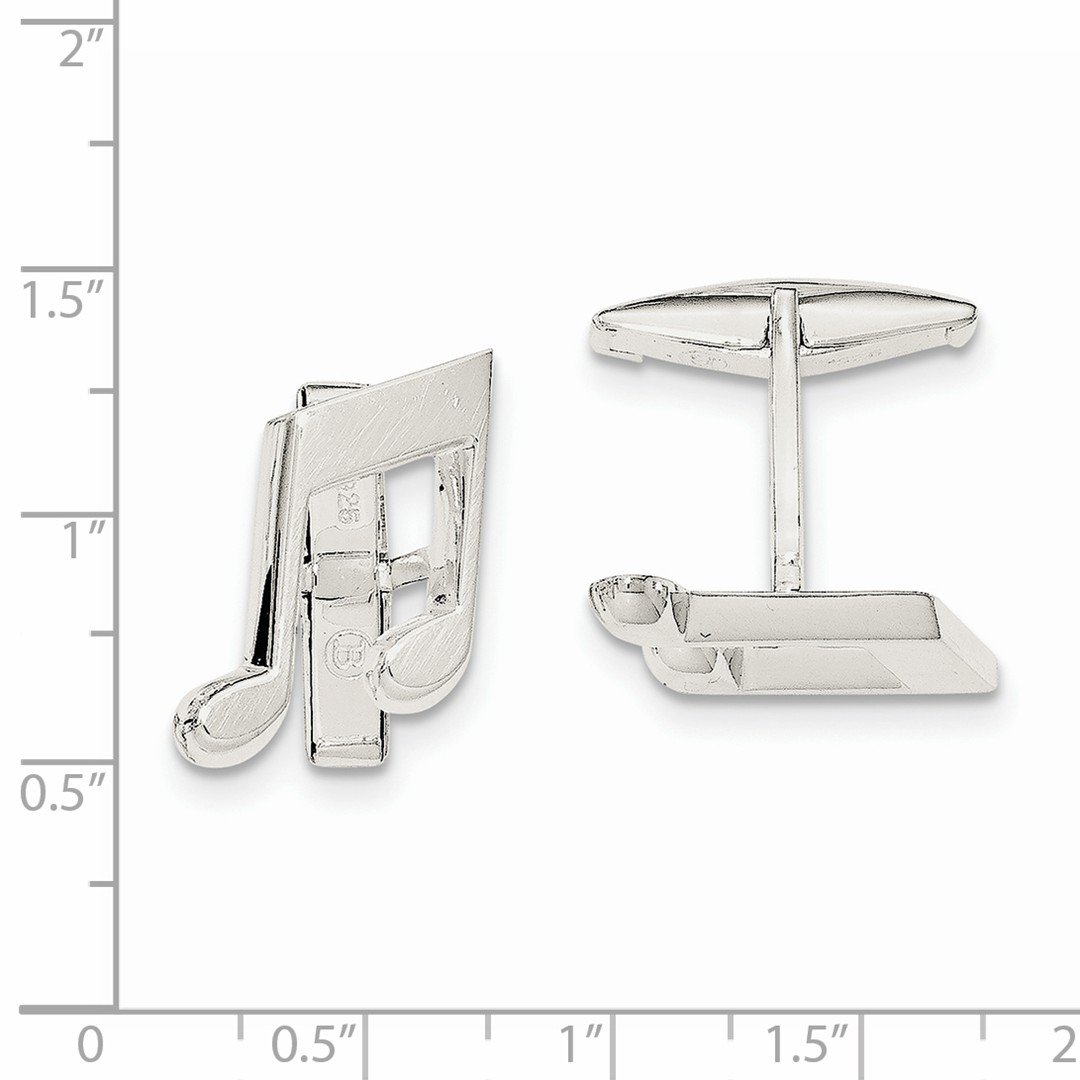 ICE CARATS 925 Sterling Silver Music Note Cuff Links Mens Cufflinks Link Fine Jewelry Dad Mens Gift Set by ICE CARATS (Image #2)