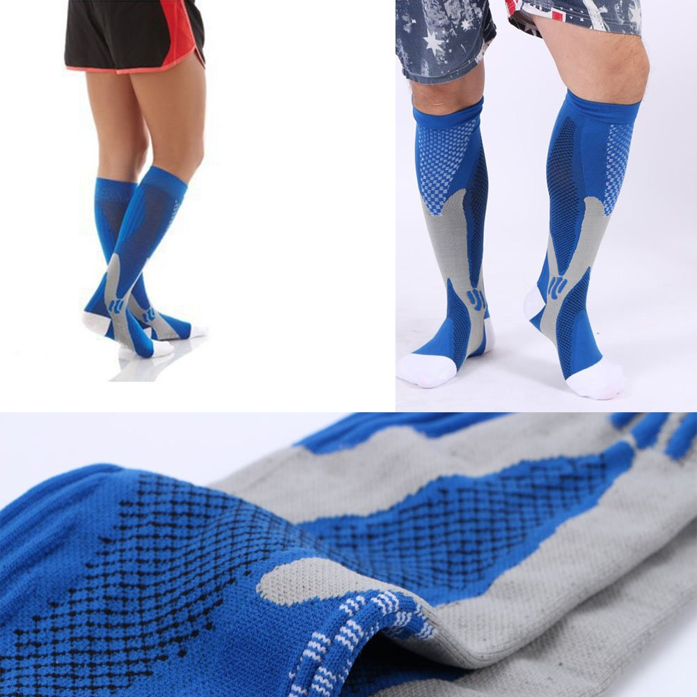 3 Pairs Compression Socks for Men and Women Graduated Athletic Socks for Sport Medical, Athletic, Edema, Diabetic, Varicose Veins, Travel, Pregnancy, Shin Splints, Nursing