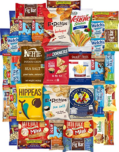 Ultimate Healthy Chips, Bars, Crackers & Snacks Care Package Variety Pack (35 Count) by Variety Fun by Custom Varietea