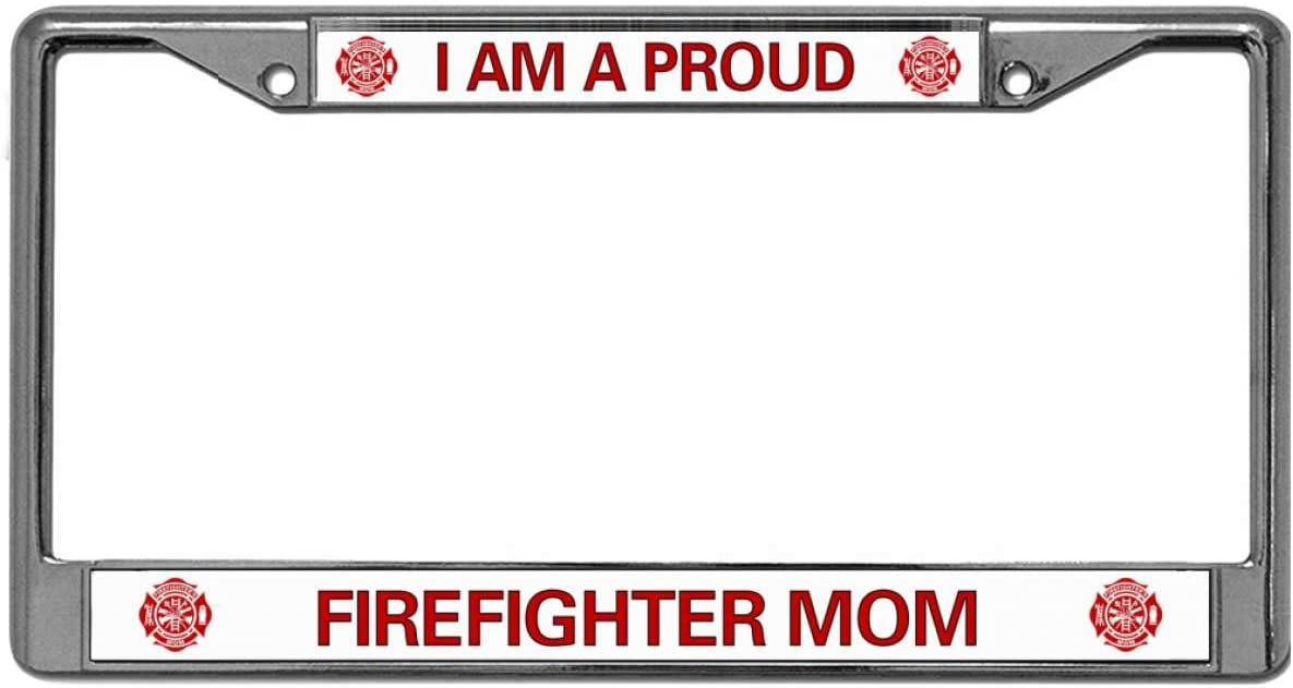 GND FIRE Rescue Chaplain Custom License Plate Frame,US Firefighter Polished Stainless Steel License Plate Frame for US Canada Vehicles