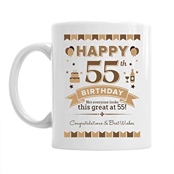 55th Birthday Gift For Men 1963 Keepsake 55 Year Old Coffee Mug