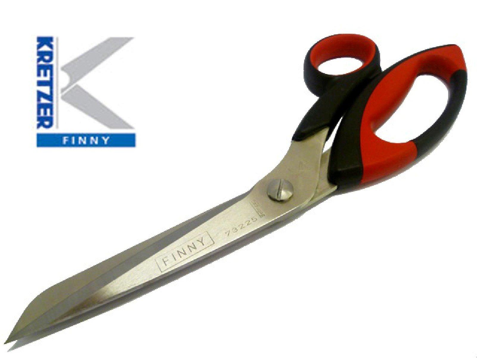 Kretzer Finny 773225 (73225) 10.0'' / 25cm - Heavy Duty, Carpet/Cardboard / Drapery/Foil / Tailor's/Upholstery Scissors ~ Shears