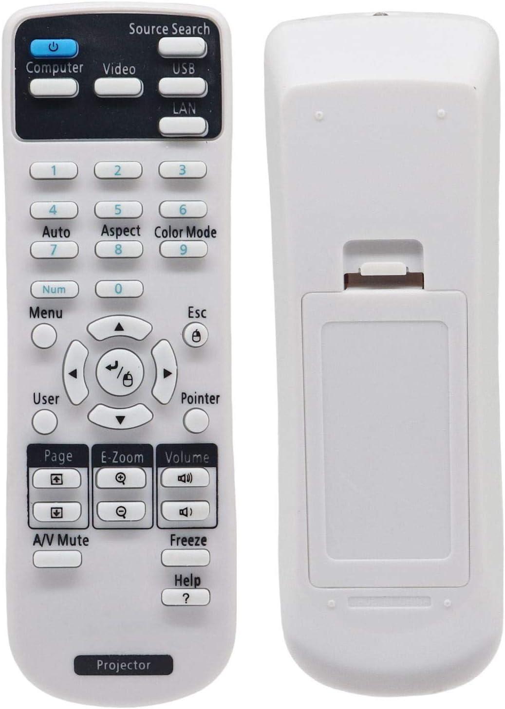 2181788 Universal Projector Remote Control for Epson Projectors BrightLink 575Wi 585Wi 595Wi435Wi 475Wi 480i 485Wi PowerLite 1224 1264 1284 1286Home Cinema 705HD 710HD 725HD 730HD W04 W32 Controller