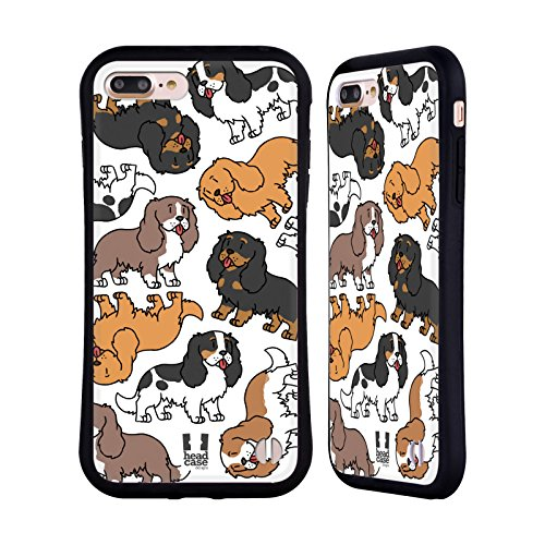 Head Case Designs Cavalier King Charles Spaniels Dog Breed Patterns 3 Hybrid Case for iPhone 7 Plus/iPhone 8 Plus