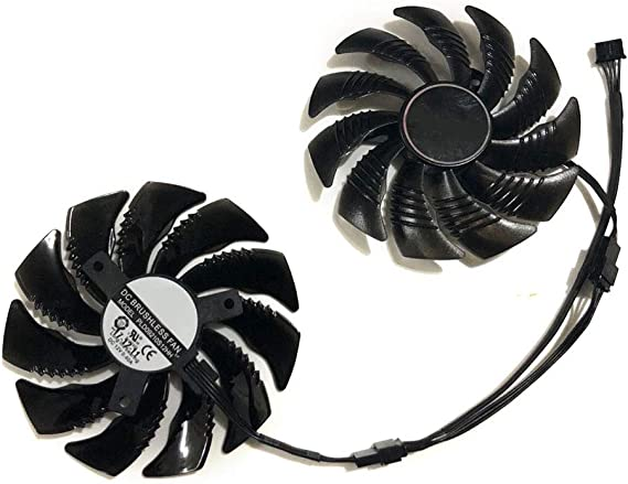 2pcs/Set 87MM PLD09210S12HH RX570 RX580 aorus GPU Cooler Cooling Fan for GIGABYTE RX 580/570 AORUS Grahics Card VGA Replacement (1 Pair PLD09210S12HH)