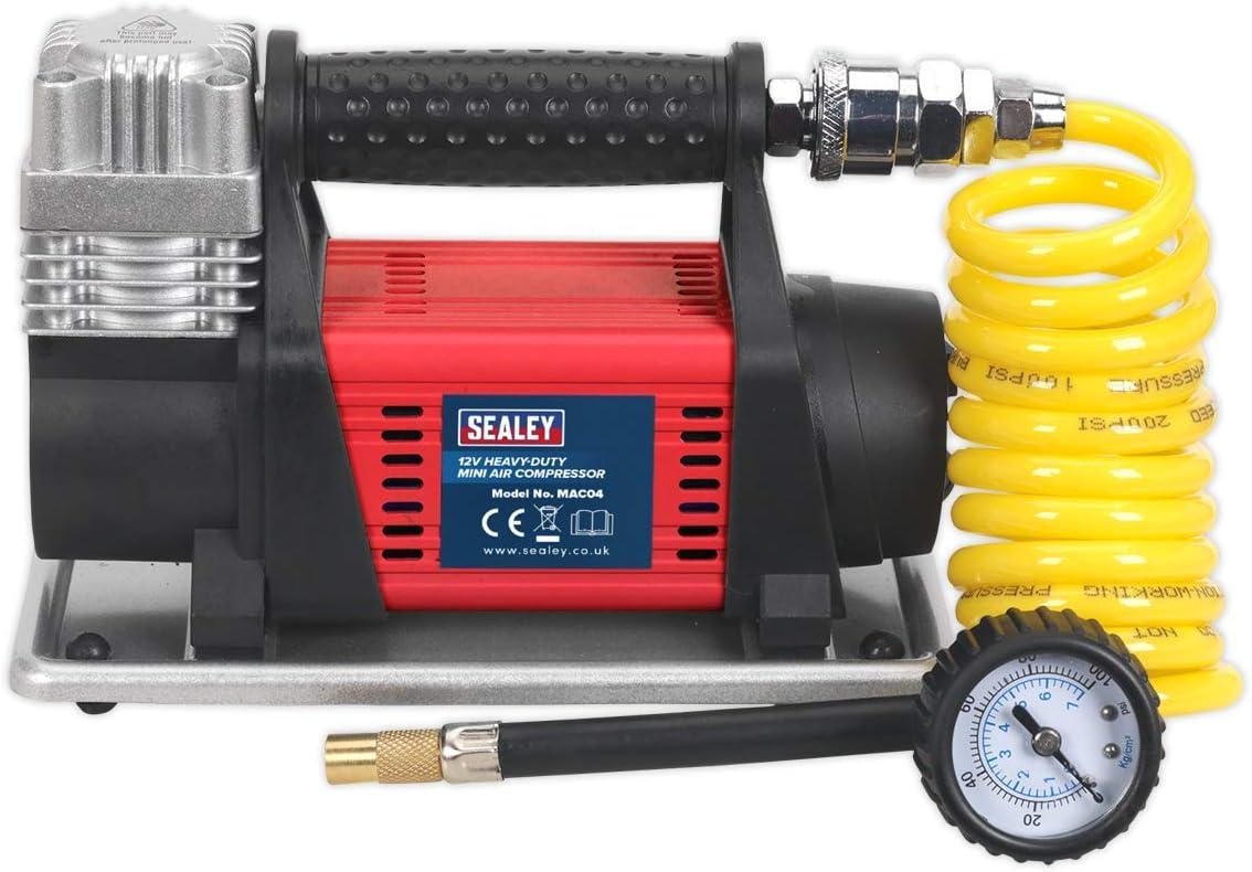 Sealey Mac04 Schwere Mini Air Kompressor Rot Von 12 Stück Baumarkt