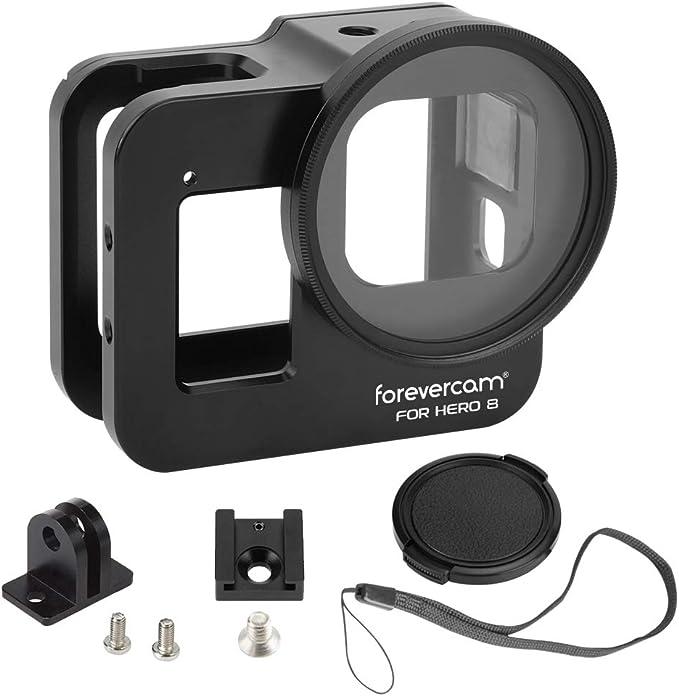 Forevercam Aluminium Cover Case Kompatibel Für Gopro Hero 8 Action Kamera Gehäuseabdeckung 2019 Hero 8 Black Cage Zubehör Sport Freizeit