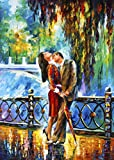 Kiss After the Rain 2 is a Limited Edition print from the Edition of 400. The artwork is a hand-embellished, signed and numbered Giclee on Unstretched Canvas by Leonid Afremov. Embellishment on each of these pieces will be slightly different, but the...