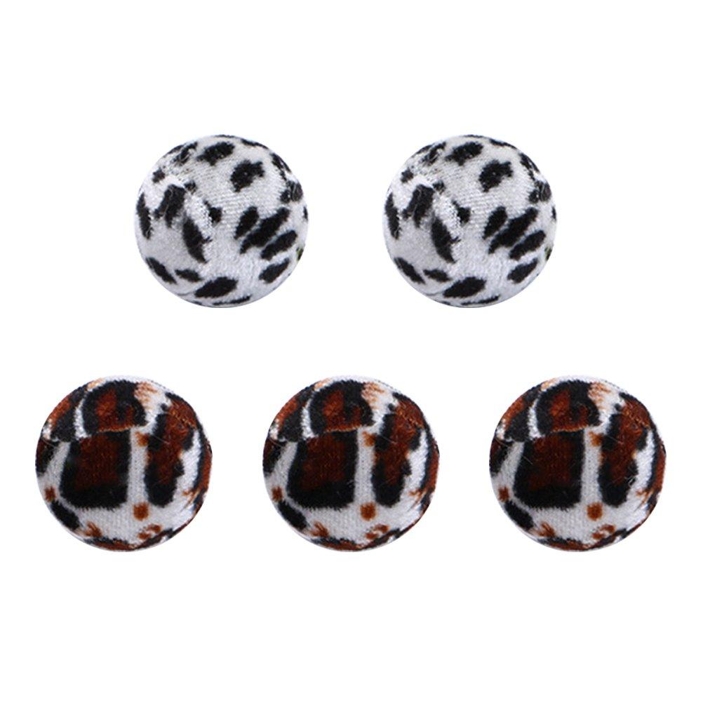 UEETEK Cat Toy Ball Pet Tennis Balls Plush Balls Pack of 5