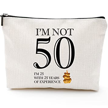 Buy I M Not 50 50th Birthday Gifts For Women Boss Wife Mother Daughter Makeup Bag Milestone Birthday Gift For Her Presents For Turning Fifty And Fabulous Online At Low Prices In India