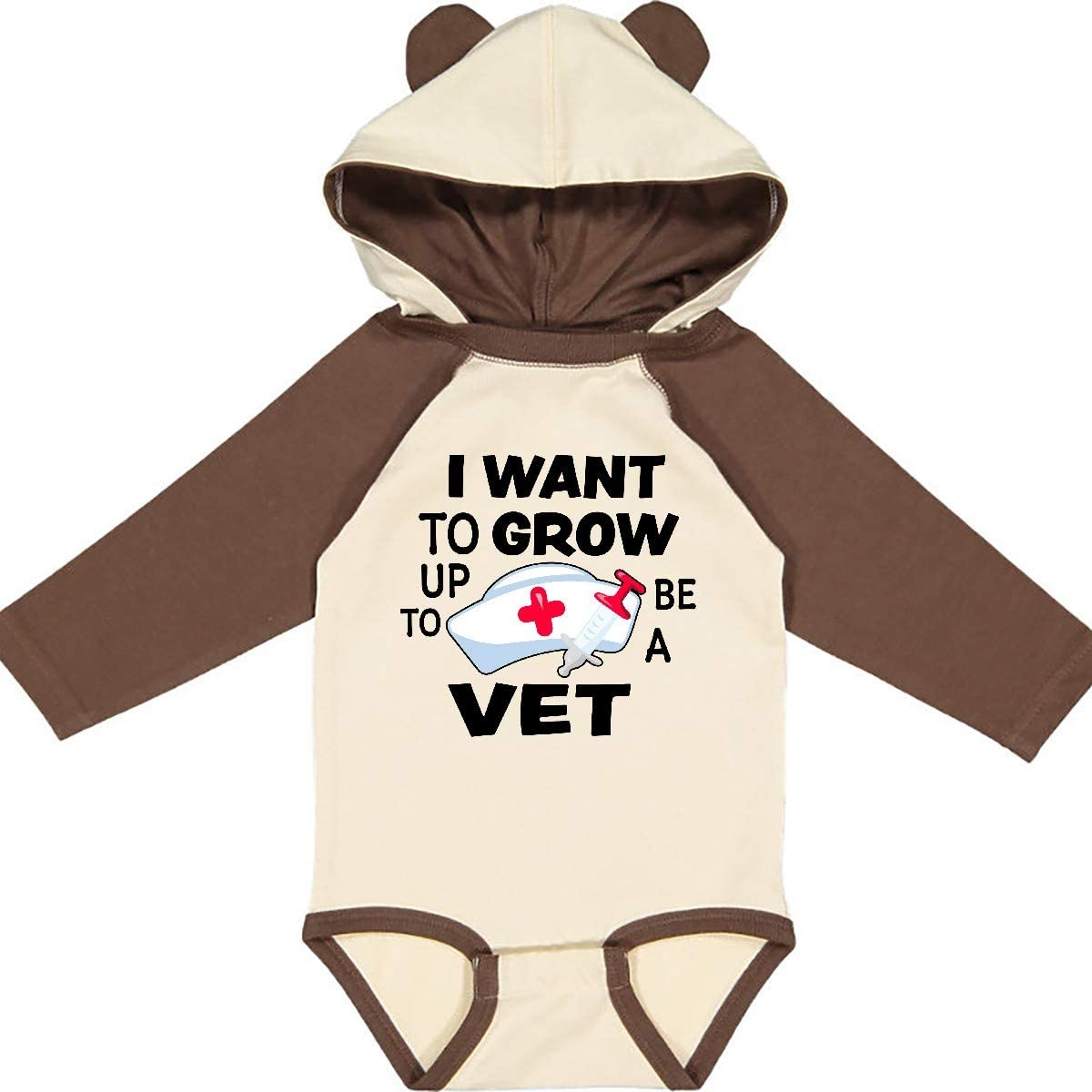 inktastic I Want to Grow Up to Be a Vet Long Sleeve Creeper