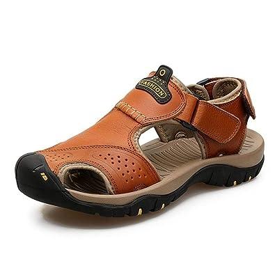 Sandalias De Cuero Para Verano Hombre Moda ZOXPN0w8nk