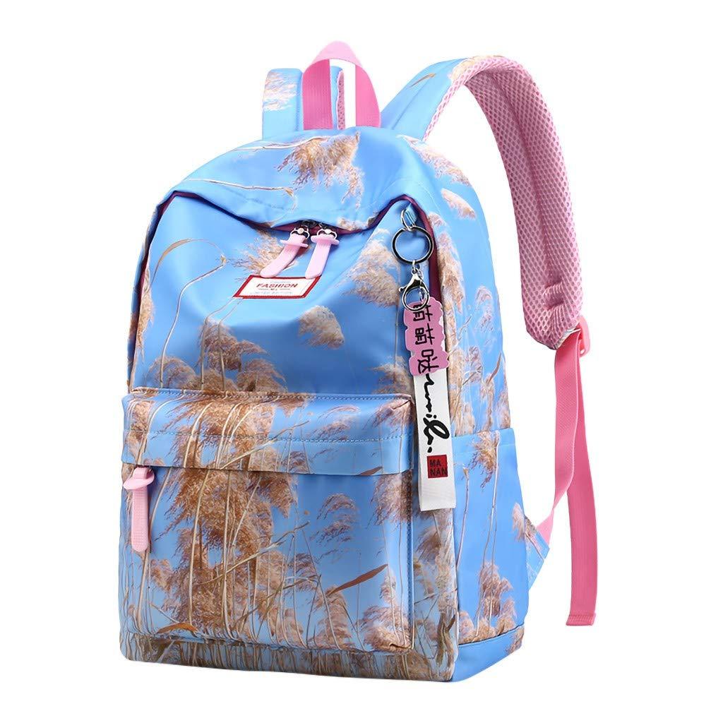 Lightweight Backpack for School, Yezijin Women's Ladies Fashion Girls Letter Print Shoulder School Handbag Backpack Bags Large Capacity Backpack for School Teenager Girl Boy Under 10 Dollars