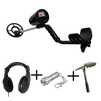 El kit para aventureros - detector de metales MCE952, Auriculares con micrófono, Pala,