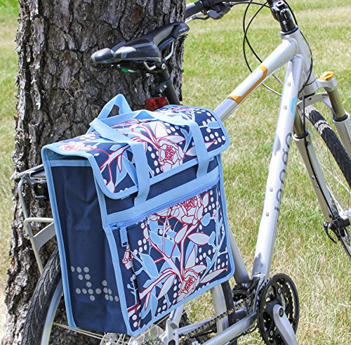 FASTRIDER SHOPPER PEONY Bike Pannier/Bag Blue 17.5L Water Resistant Single (Shopper Pannier)