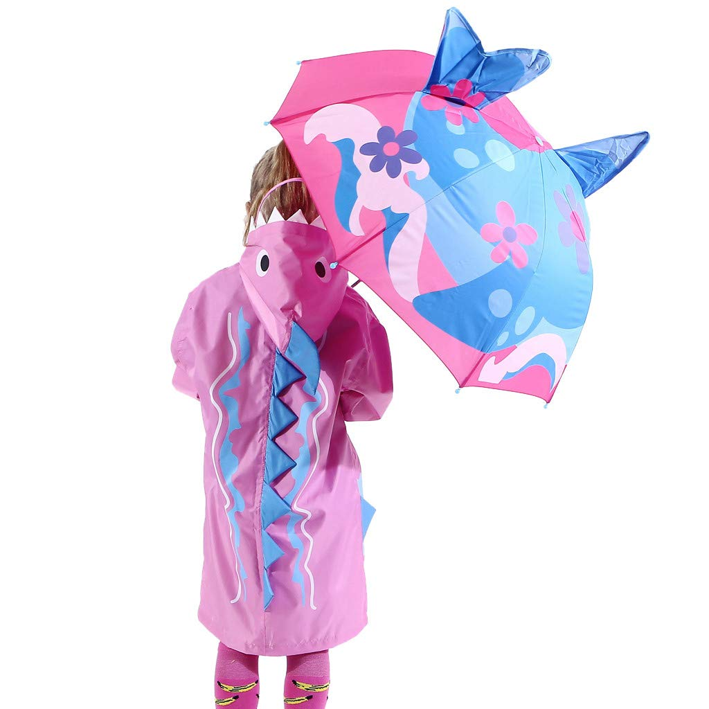 Modaworld Paraguas Transparentes ni/ña ni/ño juvenil escolar Sombrilla de cubierta de beb/é para protecci/ón solar contra la lluvia Rayos UV Paraguas exterior de dibujos animados 3D