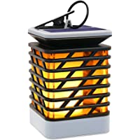 Hallomall Solar 75-LED Outdoor Hanging LED Lantern w/ Flame Effect