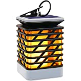 Solar Outdoor Lights Hanging, Hallomall Solar Lanterns Waterproof IP55 with Dancing Flame Effect 75LED for Garden Patio Umbrella Lamp Tree Pool Pavilion Lawn Porch Decor- Pack of 1