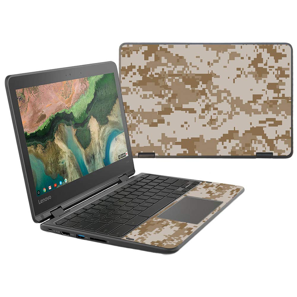 MightySkins Skin Compatible With Lenovo 300e Chromebook 11.6'' (2018) - Desert Camo | Protective, Durable, and Unique Vinyl Decal wrap cover | Easy To Apply, Remove, and Change Styles | Made in the USA