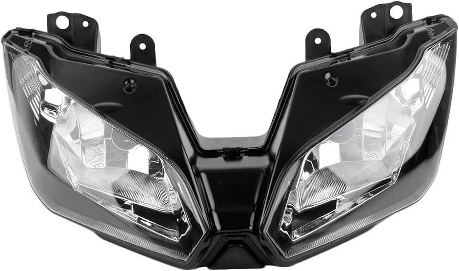 Mallofusa Motorcycle Front Headlight Headlamp Assembly Compatible for Kawasaki Ninja 300 2013-2018 Versys 650 1000 2015 2016 2017 2018