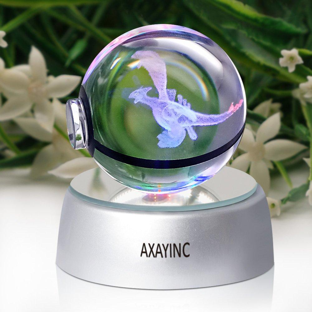 axayinc 3dクリスタルボールLEDナイトライトテーブルデスクスリープライト、ホームデコレーションクリスマス、休日、パーティー用- 50 mm AXAYINC1 B07BPVFQH3 16624  Lgia