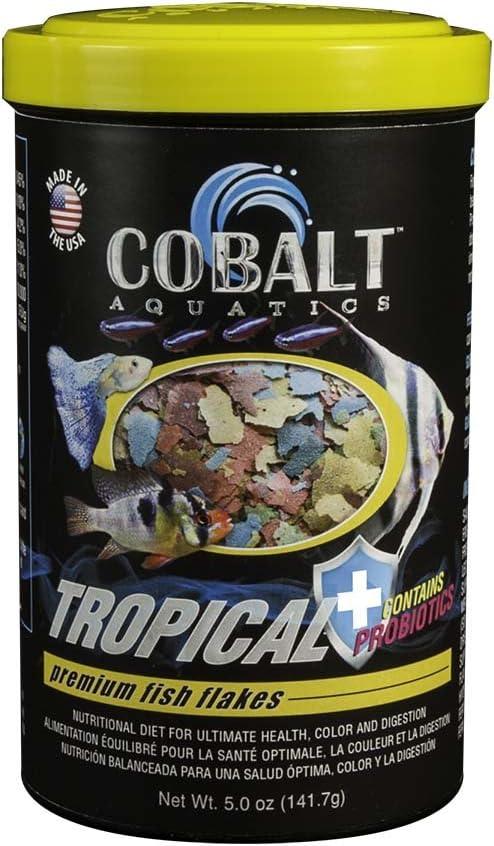 Cobalt Aquatics Tropical Flakes, 5 oz. (Probiotics)