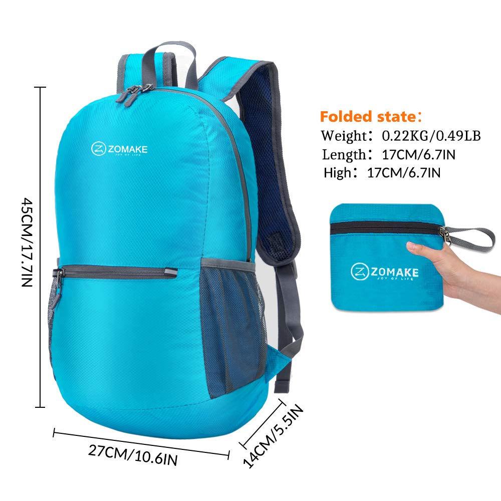 61574269737 ZOMAKE Ultra Lightweight Packable Backpack Water Resistant Hiking Daypack,Small  Backpack Handy Foldable Camping Outdoor Backpack Little Bag - ZOMAKE  TM0018B ...