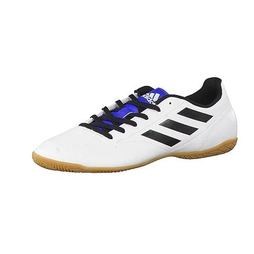76c0d8b569c Adidas Tenis de fútbol para Hombre simipiel Blanco con Negro BB0553 28.5