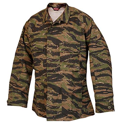 Tru-Spec BDU Coat CP Twill Vietnam Tiger Stripe M-Reg 1619004 (Bdu Stripe Jacket Tiger)