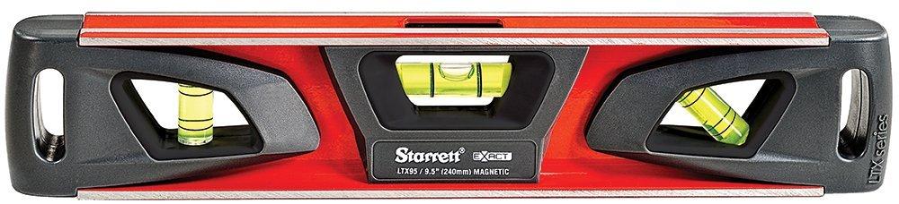 Starrett Exact KLTX95-N Aluminum Extruded Torpedo Magnetic Level, 9.5'' Length