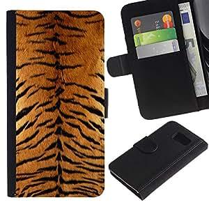 All Phone Most Case / Oferta Especial Cáscara Funda de cuero Monedero Cubierta de proteccion Caso / Wallet Case for Sony Xperia Z3 Compact // Tiger Furry Pattern Animal Wild Big Cat